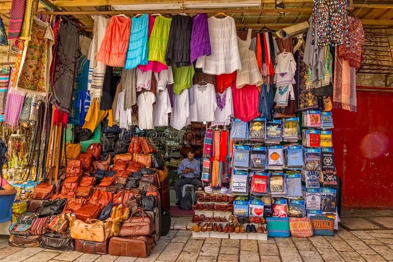 Piccolo negozio di Gerusalemme immagini stock libere da diritti