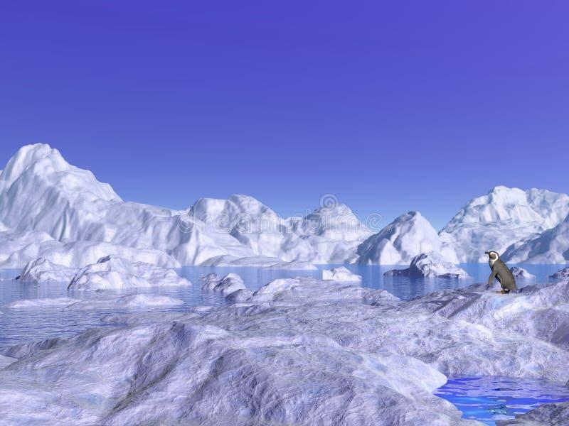 Piccolo nel mezzo del nulla - 3D rendono illustrazione vettoriale