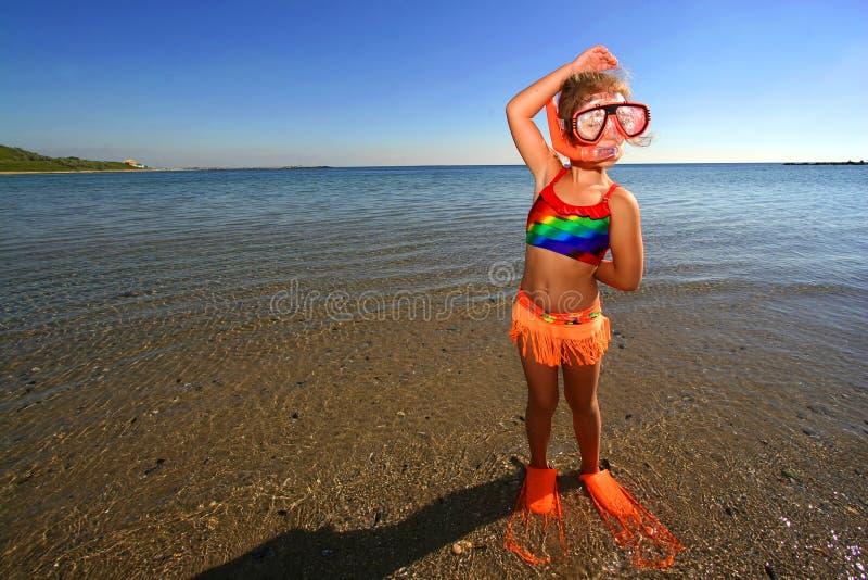 Piccolo nuotatore fotografia stock