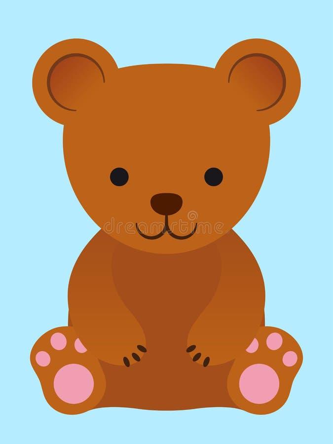 Piccolo orsacchiotto marrone adorabile royalty illustrazione gratis
