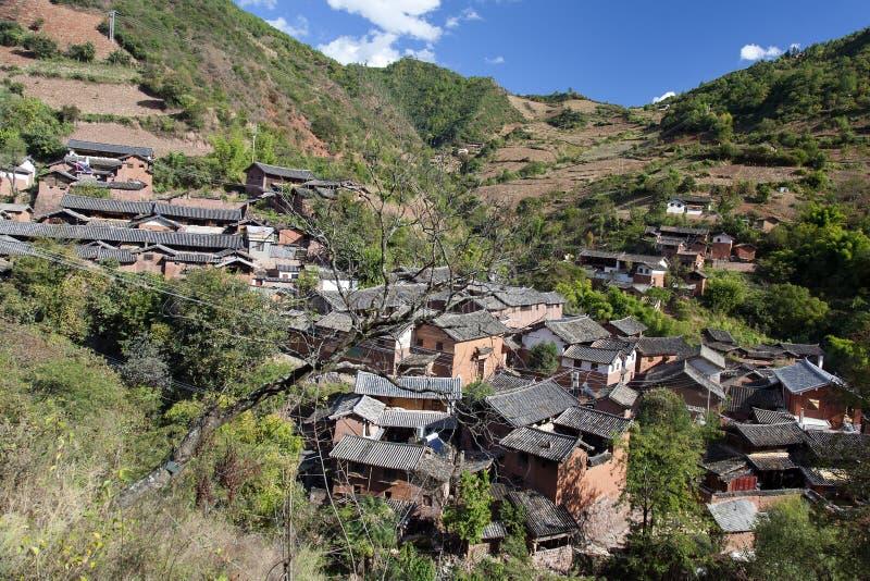 Piccolo paesino di montagna fotografie stock libere da diritti