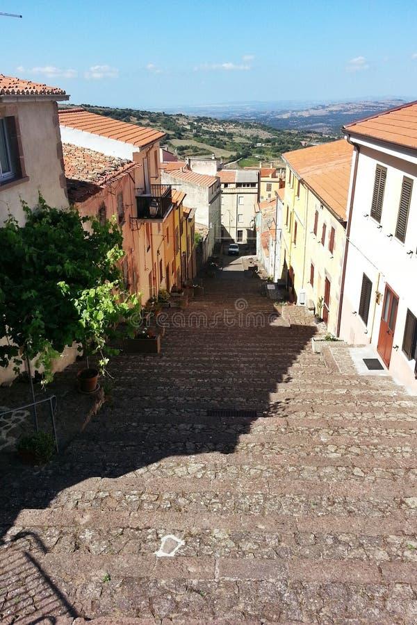Piccolo panorama italiano della città fotografia stock libera da diritti