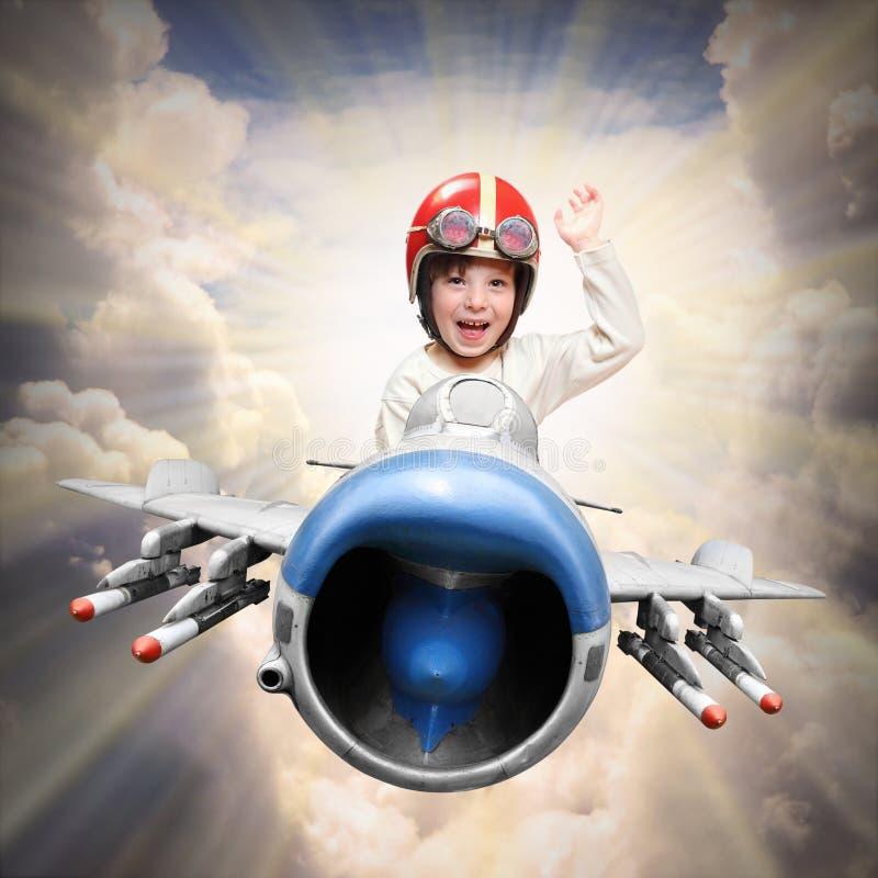 Piccolo pilota fotografie stock