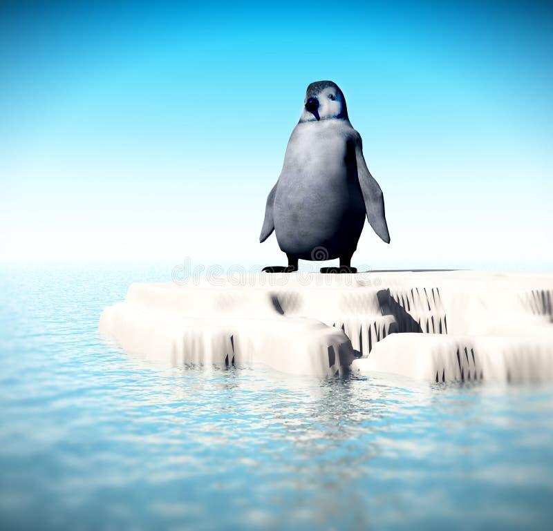 Piccolo pinguino perso 7 royalty illustrazione gratis
