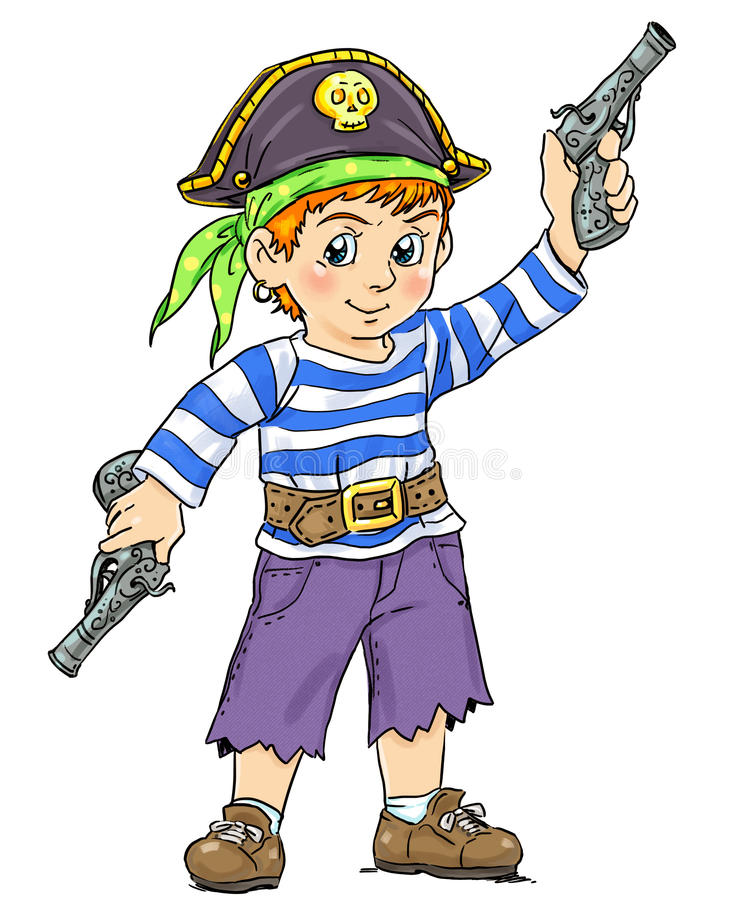Piccolo pirata illustrazione di stock