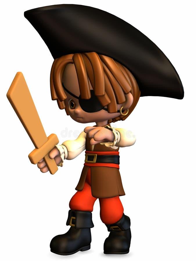 Download Piccolo Pirata - Figura Di Toon Illustrazione di Stock - Illustrazione di dolce, gaze: 7311873