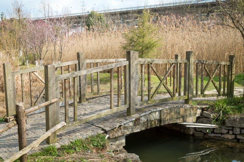Piccolo ponte di legno fotografia stock libera da diritti