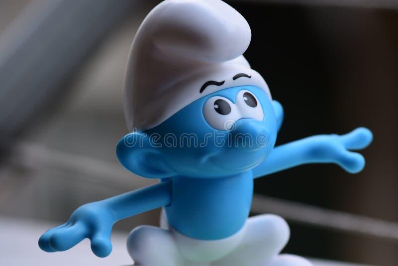 Piccolo Puffi blu, Puffo fotografia stock