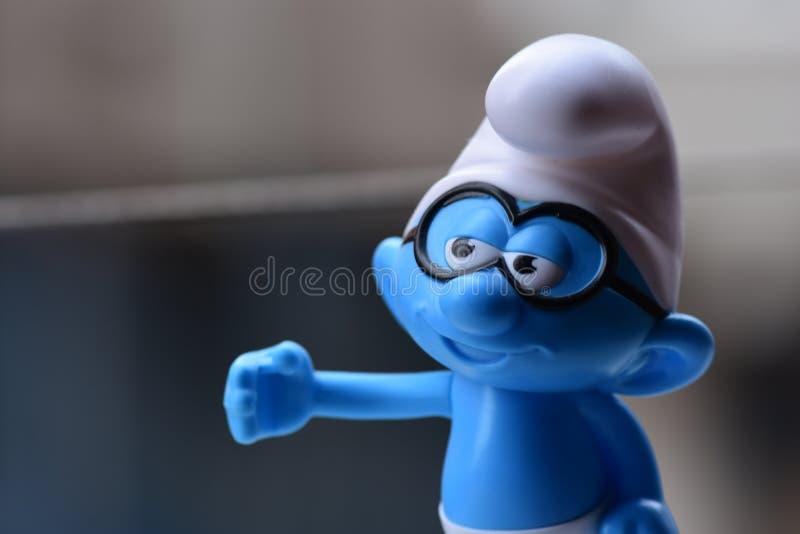 Piccolo Puffi blu, Puffo di vetro immagine stock