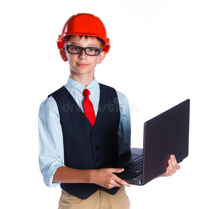 Piccolo ragazzo del costruttore immagine stock