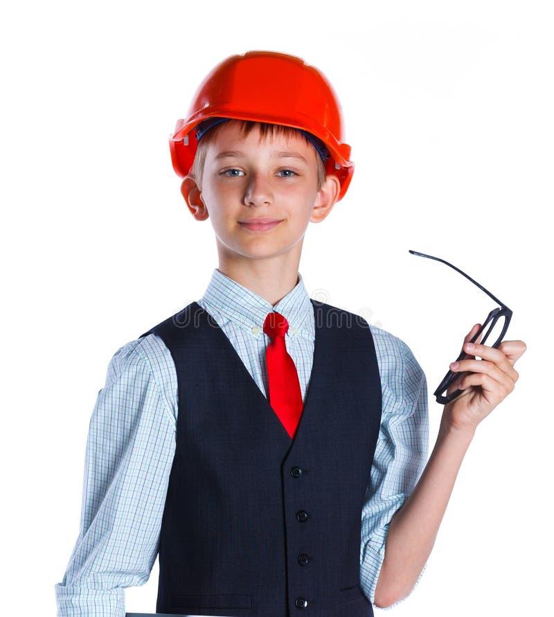 Piccolo ragazzo del costruttore immagini stock libere da diritti