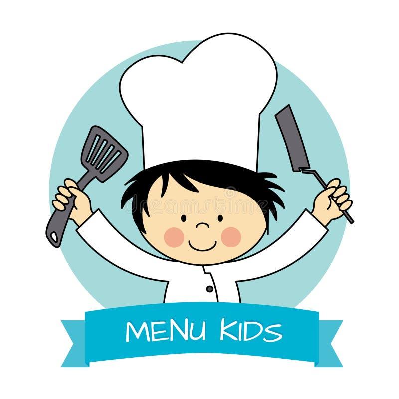 Piccolo ragazzo del cuoco unico illustrazione vettoriale