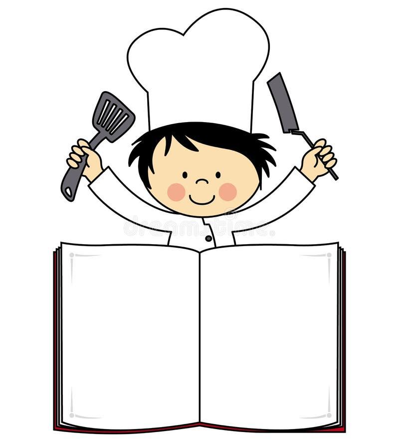 Piccolo ragazzo del cuoco unico royalty illustrazione gratis