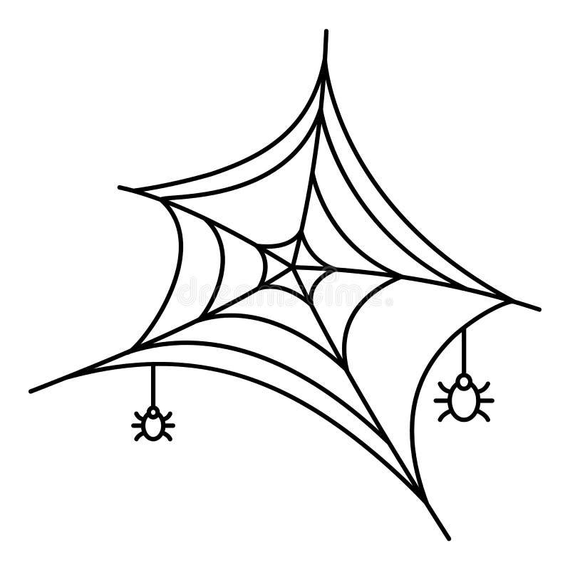 Piccolo ragno sull'icona di web, stile del profilo illustrazione di stock