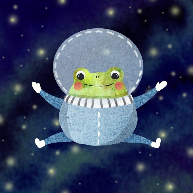 Piccolo rana divertente illustrazione vettoriale