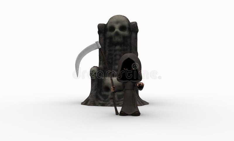 Piccolo reaper torvo sveglio illustrazione di stock