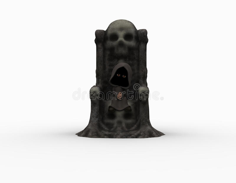 Piccolo reaper torvo sveglio royalty illustrazione gratis