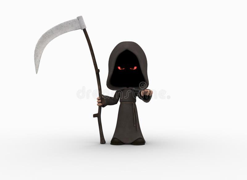 Piccolo reaper torvo sveglio illustrazione vettoriale
