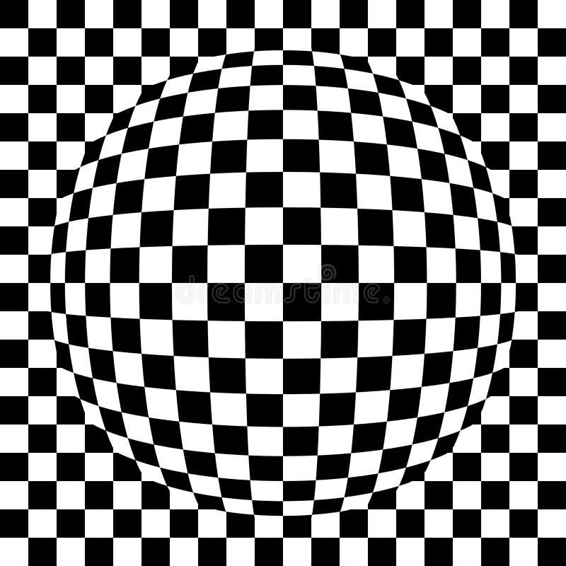 Spherized Ha Quadrato Il Modello Fotografia Stock