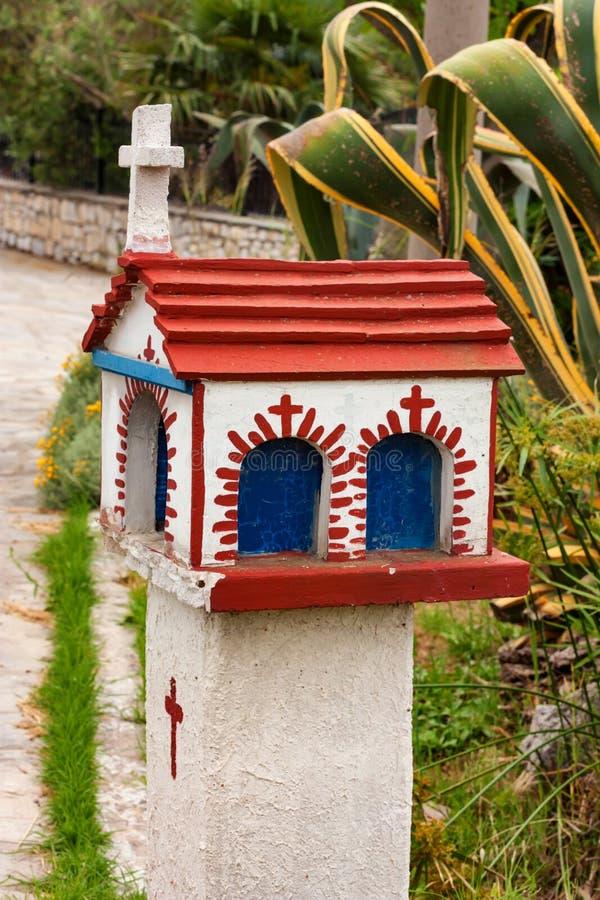 Piccolo santuario ellenico Proskinitari, Grecia del primo piano immagine stock libera da diritti