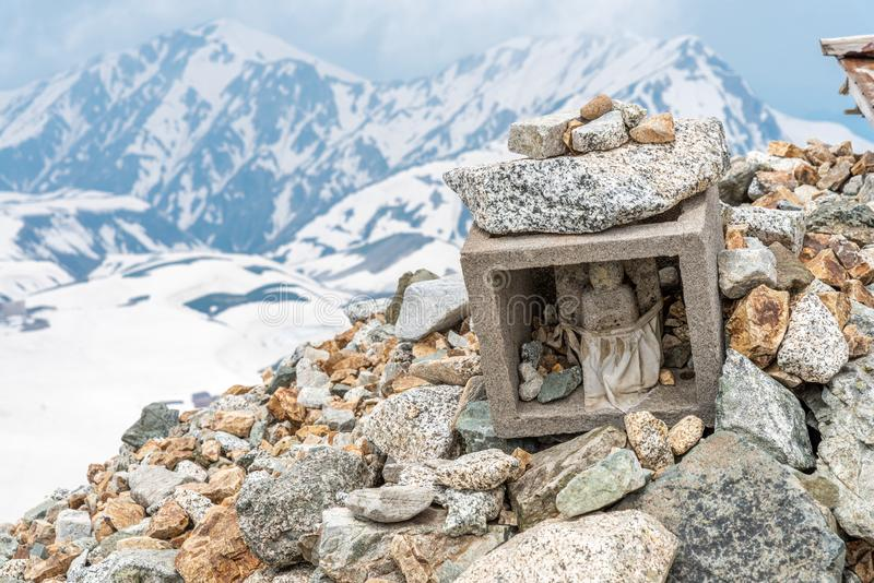 Piccolo santuario su Oyama, Tateyama fotografie stock libere da diritti