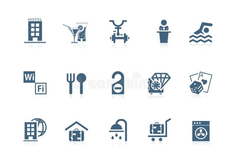 piccolo serieservice för hotell stock illustrationer