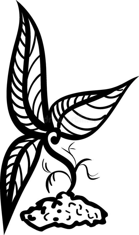 Piccolo tatuaggio dell'innesto di disegno immagini stock libere da diritti