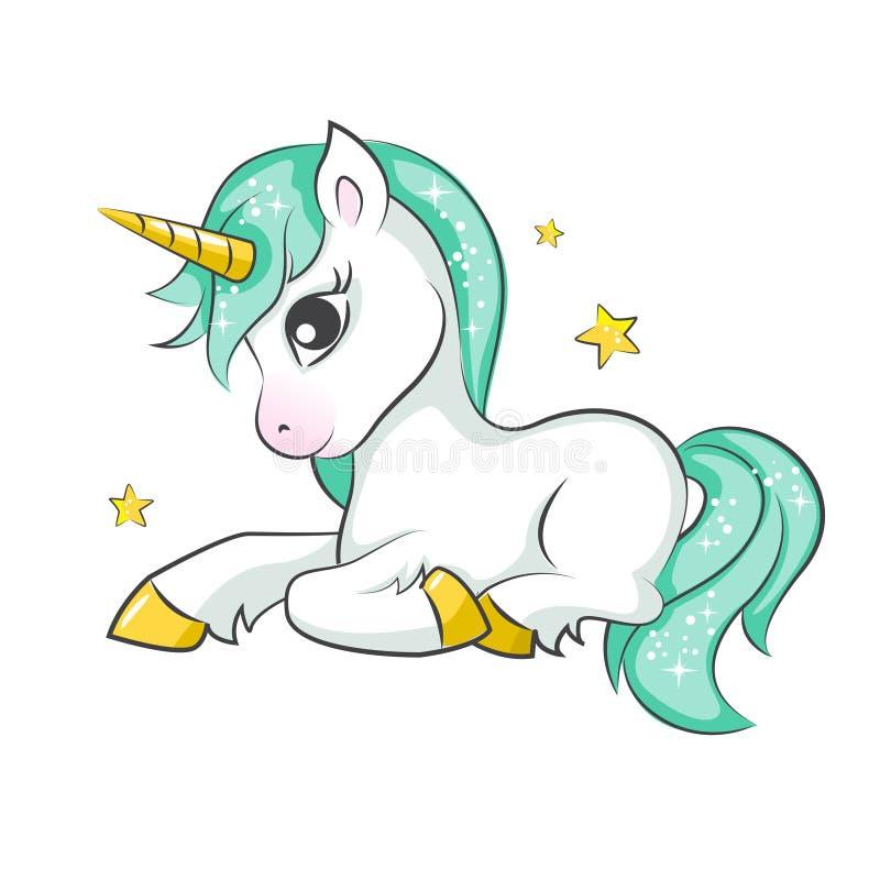 Piccolo unicorno sveglio royalty illustrazione gratis