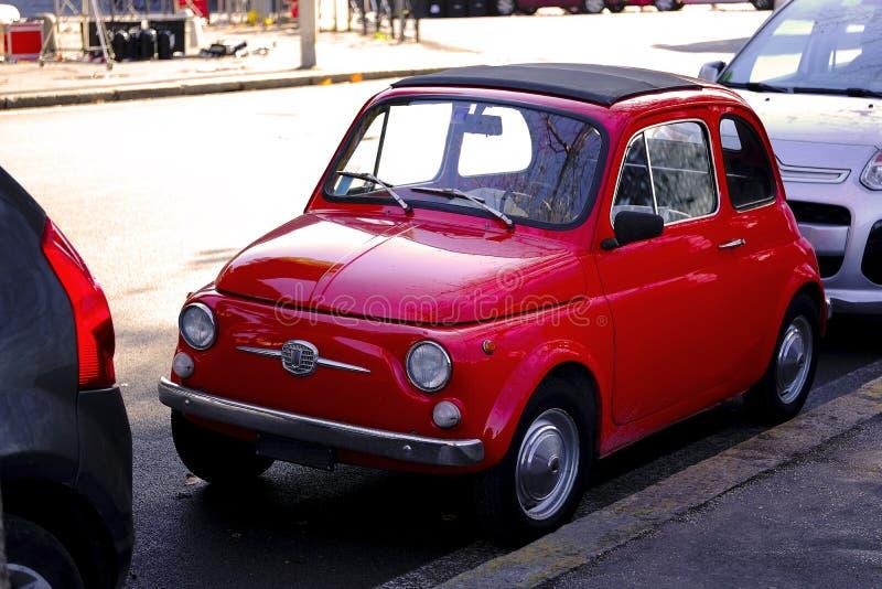 Piccolo veicolo italiano sveglio fotografia stock
