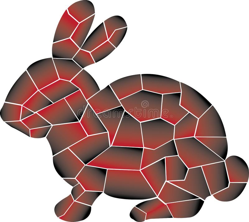Piccolo, velocità, selvaggia, coniglio Progettazione illustrazione vettoriale