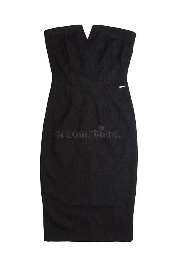 Piccolo vestito nero con le spalle nude fotografia stock libera da diritti