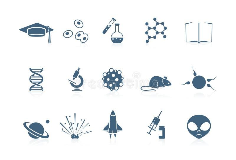 piccolo vetenskapsserie för symboler stock illustrationer