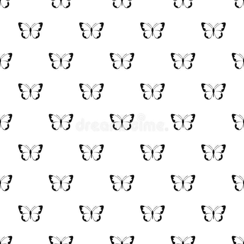 Piccolo vettore senza cuciture del modello di farfalla illustrazione di stock