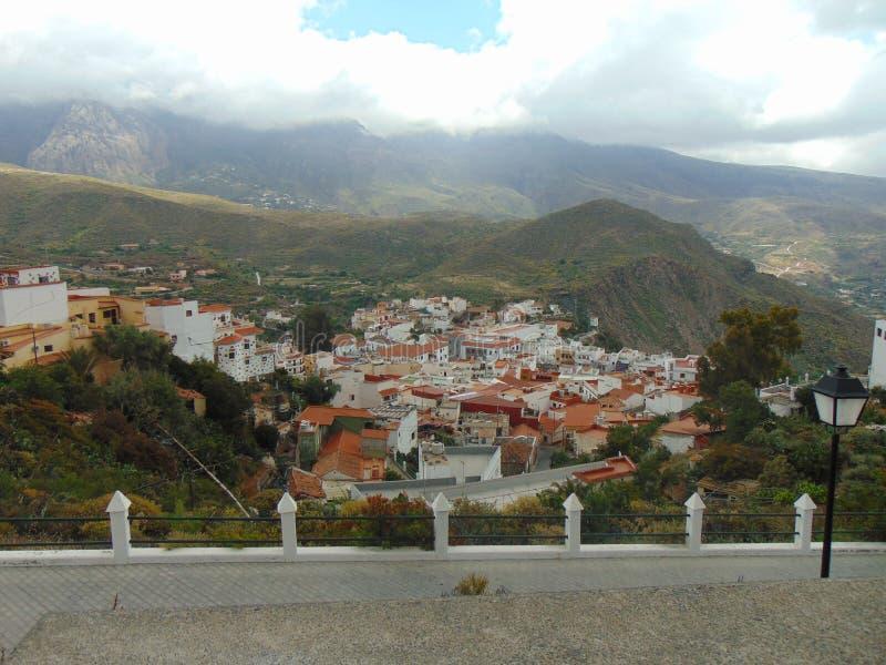 Piccolo villaggio di Canarie immagine stock