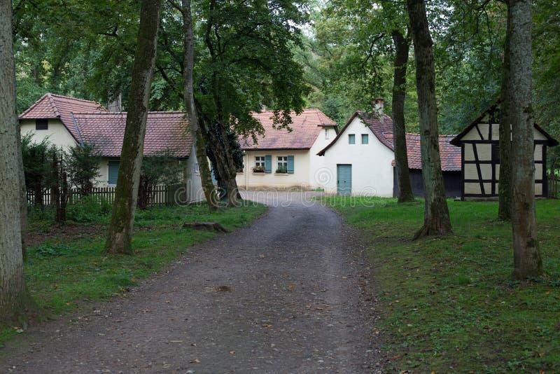 Piccolo villaggio in foresta immagine stock libera da diritti