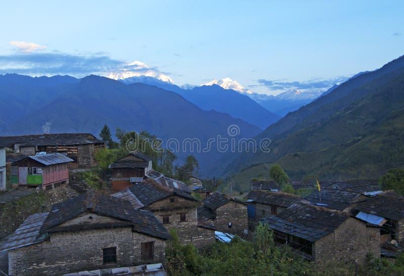 Piccolo villaggio nel Nepal immagine stock
