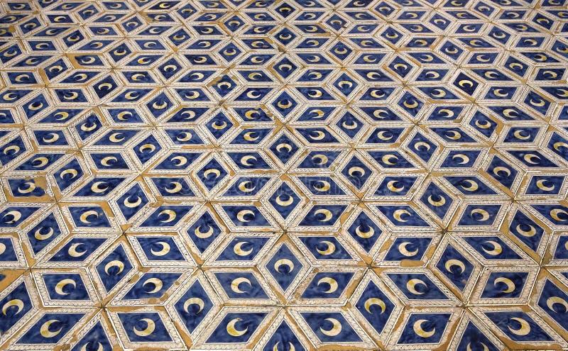 Piccolomini图书馆,锡耶纳,意大利中央寺院  库存照片