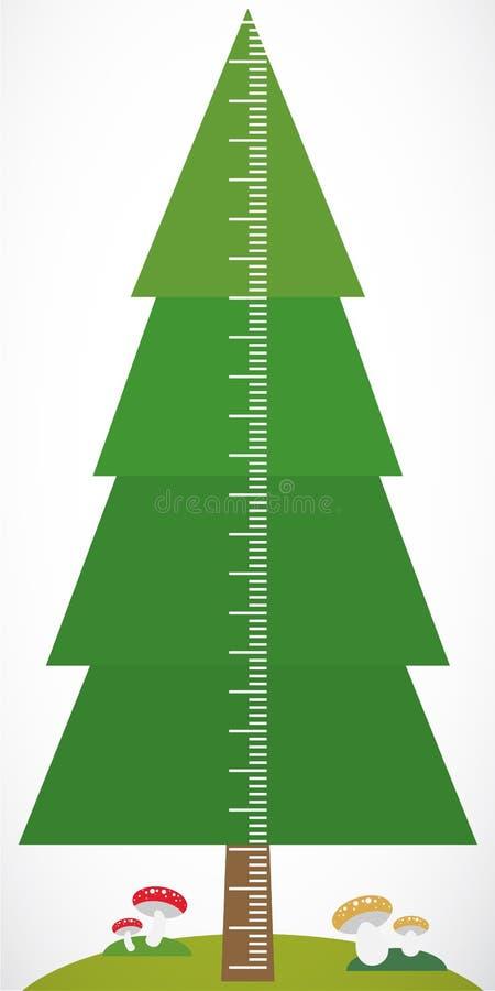 Picea Y Setas Verdes Grandes Del árbol En Los Niños Blancos Que ...