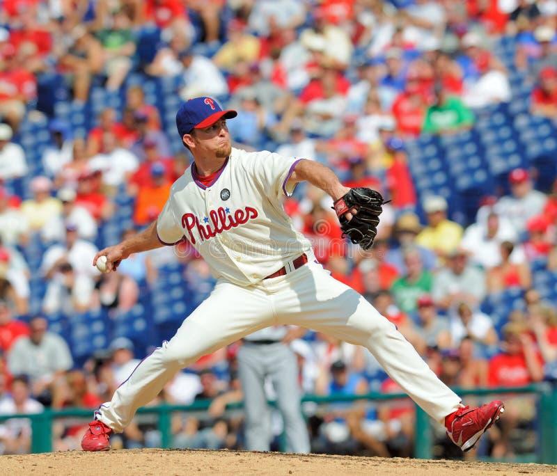 Pichet d'allégement de Brad Lidge - de Phillies photo libre de droits