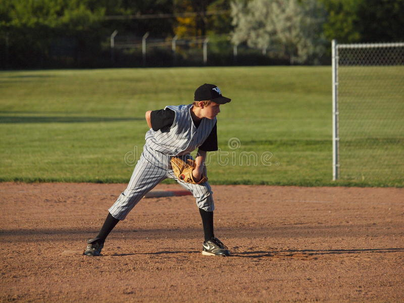 Pichet de base-ball de petite ligue photographie stock
