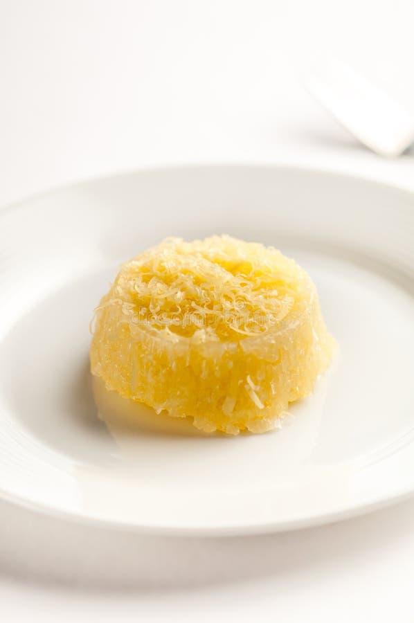 Pichi pichi filipino sweet. Popular Filipino sweet - pichi Pichi in a white dish royalty free stock photography