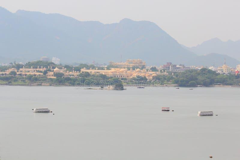 Pichola озера, udaipur, Раджастхан, Индия стоковые изображения rf