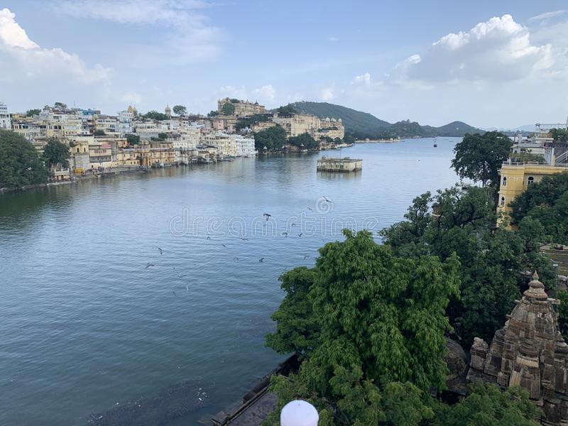 Pichola du lac d'Udaipur photo stock