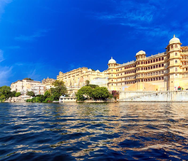 Picholameer in India Udaipur Rajasthan royalty-vrije stock fotografie