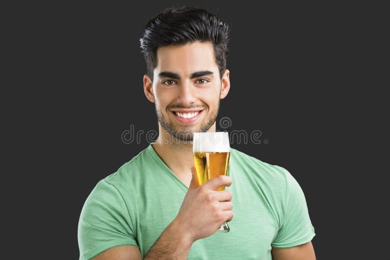 picie piwa faceta zdjęcia stock