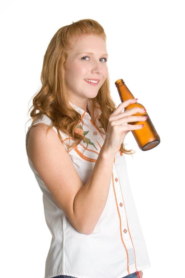 picie piwa kobieta obraz stock