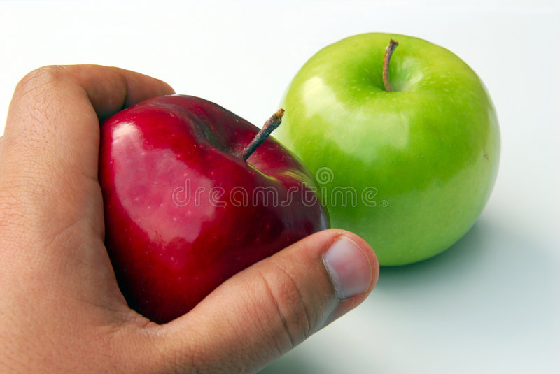 Pick an Apple. For good health stock image