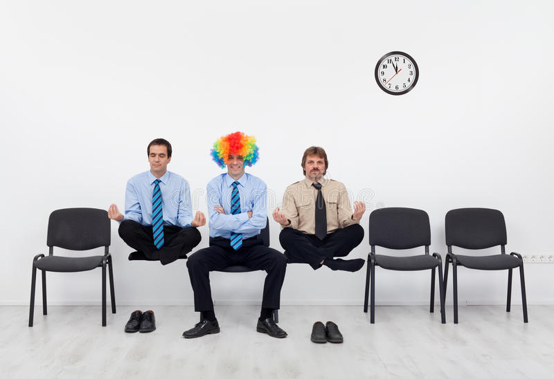Pick the average candidate for the job. Which candidate to pick for the job - unusual subjects to the interview stock photos