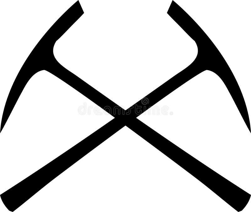 Pick ax crossed vector illustration