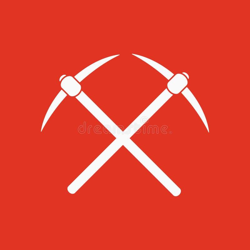 The pick icon. Pickax symbol. Flat. Vector illustration vector illustration